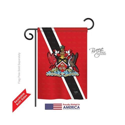 Breeze Decor 58172 Trinidad & Tobago 2-Sided Impression Garden Flag - 13 x 18.5 in.