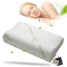 Comfort Contour Orthopedic Bamboo Fiber Sleeping Pillow
