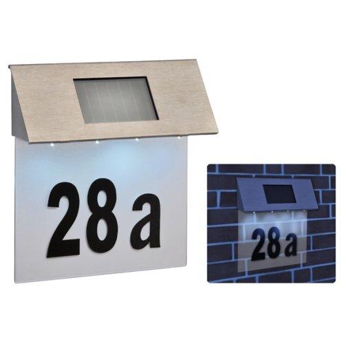 Stainless Steel Solar House Door Number Plaque