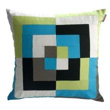 Handmade Decorative Pillow Cover Canvas Decorative Pillow Case Green