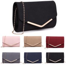 Buy 1 Get 1 at 20% Off Miss Lulu Women Clutch Purse Envelope Evening Party Hand Bag Chain Cross Body Bag