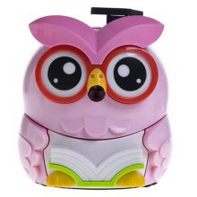 Lovely Owl Manual Pencil Sharpener For Classroom 8.7x12.1x9.9CM Pink