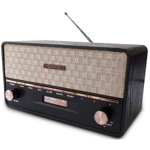 Groov-e GVDR02BK Encore DAB/FM Digital Radio & Wireless Bluetooth Speaker
