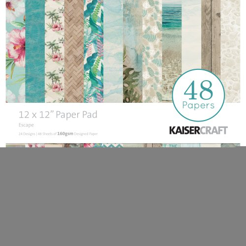 """Kaisercraft Paper Pad 12""""X12"""" 48/Pkg-Escape"""