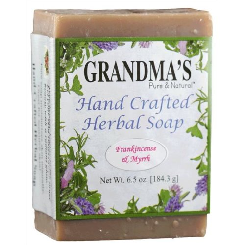 Grandmas Pure & Natural KHFM00254374 Frankincense & Myrrh Herbal Soap, 6 oz