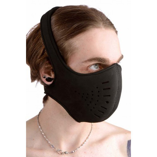 Neoprene Snap On Face Mask  BDSM Masks - Master Series