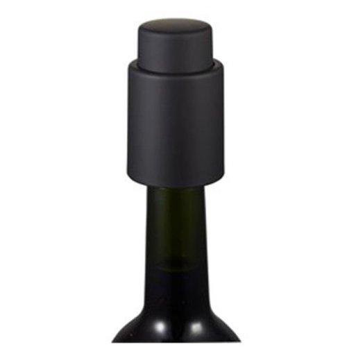 Visol VAC380BK Vacustopper Black Rubberized Wine Stopper Pump