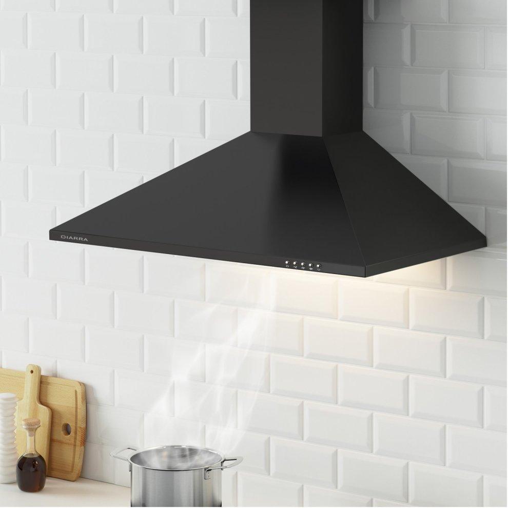 Ciarra 90cm Black Chimney Cooker Hood 900mm Range Kitchen Extractor Fan 5
