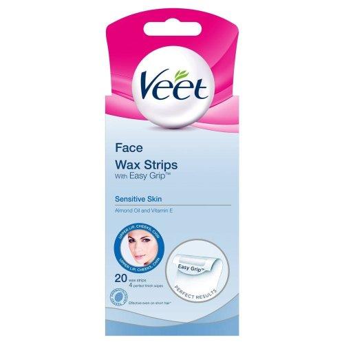 Veet Facial Wax Strips Sensitive Skin 20