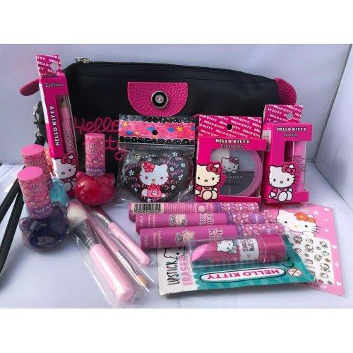 Hello Kitty Make Up Set - Nail and Make Up Gift Set in Makeup Bag