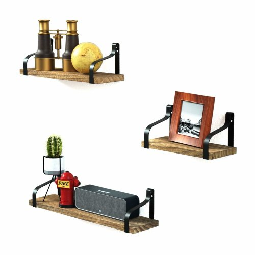 Love Kankei Floating Shelves Decorative Wall Shelf In Retro Style
