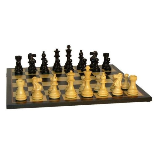WW Chess 37BLC-BBM Black Lardy Classic On Black Birdseye Maple Board