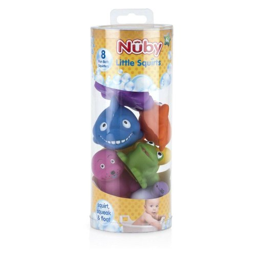 Nuby Little Squirts Bath Toys 6m+ Pack of 8