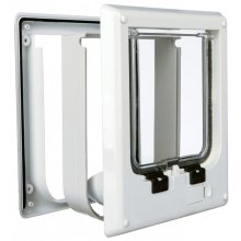 TRIXIE 4 Way Cat Flap Electromagnetic 21.1x24.4 cm White 3869