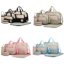 5pc Miss Lulu 2-Tone Baby Changing Set | Nappy Bag Set