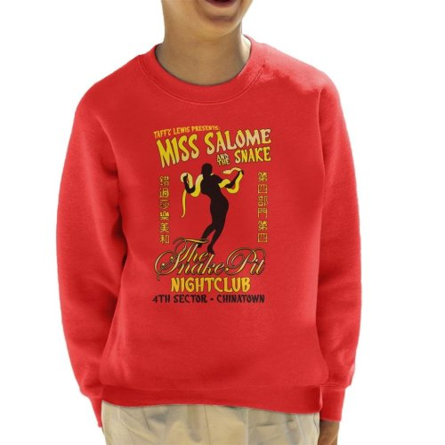 Miss Salome And The Snake Blade Runner Kid's Sweatshirt