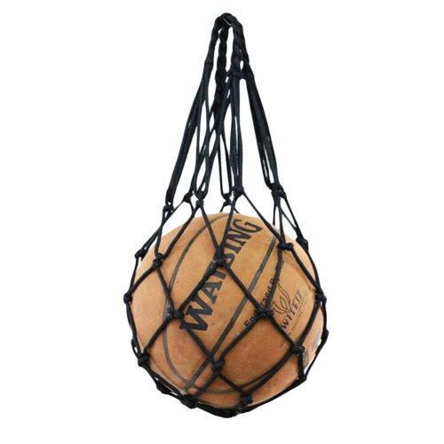 Black Football Volleyball Net Mesh Bag Basketball Training Carry