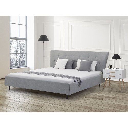 Super King Size - 6 ft  - Upholstered Bed 180x200 cm - SAVERNE