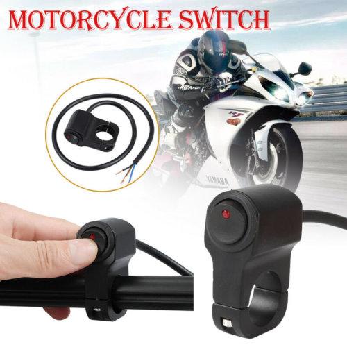 Motorcycle Motorbike Handlebar Fog Spot Head Light ON/OFF Push Button Switch UK