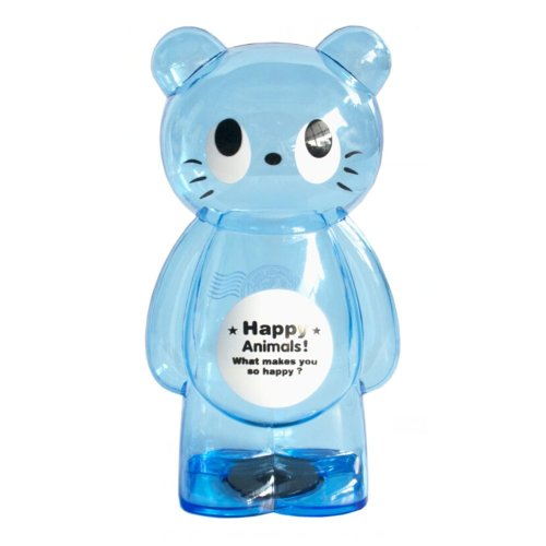 GPPS Piggy Bank Cartoon Hyaline Creative Lovely Gifts Adult/Children Kitty Blue