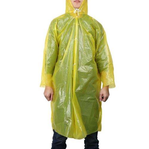 5 Pcs Disposable Plastic Raincoat Travel Camping Rainwear Emergency Waterproof