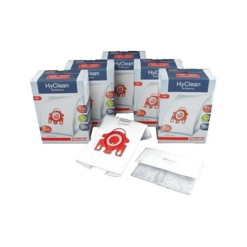 Miele Vacuum Cleaner FJM HyClean 3D Efficiency Dust Bag & Filter Pack - Pack of 20 Bags