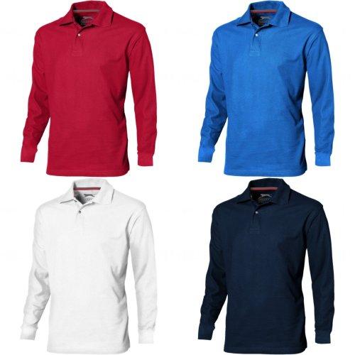 Slazenger Mens Point Long Sleeve Polo Shirt