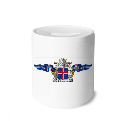 Norway National Emblem Country Symbol Money Box Saving Banks Ceramic Coin Case Kids Adults