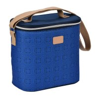 Geo Oval Lunch Cooler Blue