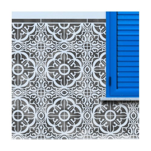 TAVIRA TILE Wall Furniture Floor Stencil for Painting