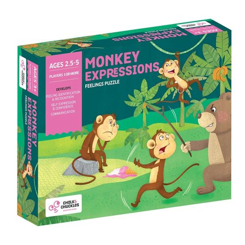 Chalk and Chuckles Monkey Expressions