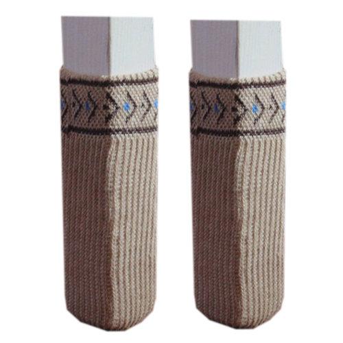 24 Pcs Chair Leg Pad Furniture Knit Socks Floor Protector, Khaki