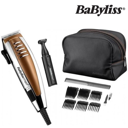 BaByliss 7448DGU Professional Corded Mens Hair Clipper Gift Set Mains Powered