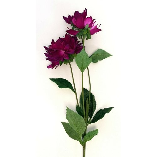 Artificial Purple Dahlia Spray - 77cm Tall - Faux Flowers. Approximately 77cm tall including a bare main stem of 43cm