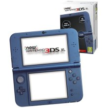 New Nintendo 3DS XL Console Metallic Blue with NFC Function for Amiibo