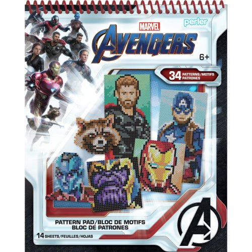 Perler Avengers Fused Bead Pattern Pad-