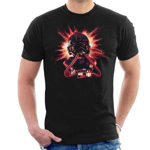 Original Stormtrooper Imperial Pilot TIE Helmet Explosion Men's T-Shirt