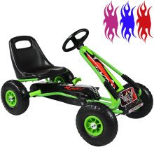 RIP-X Go Kart Kids Childrens Pedal Ride On Car Racing Toy Rubber Tyres Wheels