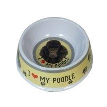 Black Poodle Dog Bowl