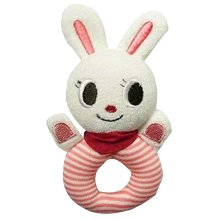 Rattle Baby Educational Toys Hand Animal Rattle White Bunny