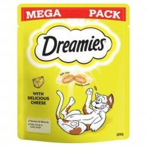 Dreamies Cat Treats With Cheese Mega Pack 200g (Pack of 6)