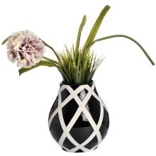 Black & White Contemporary Lattice Bottle Vase