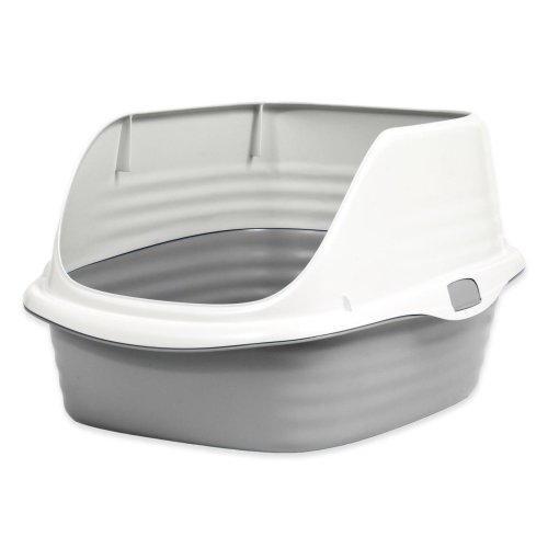 Stay Fresh Rimmed cat Litter Pan Large