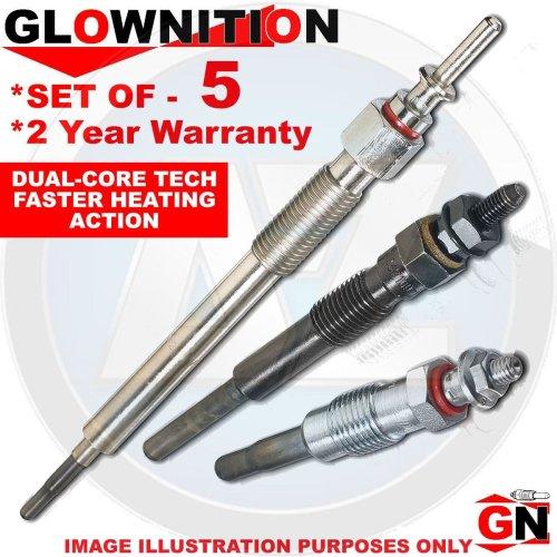 Alfa Lancia Diesel Heater Ignition Glow Plugs Plug Set (X5)