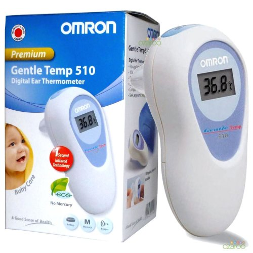Omron GT510 Gentle Temp Digital Infrared Baby Ear Thermometer 1 Second Reading