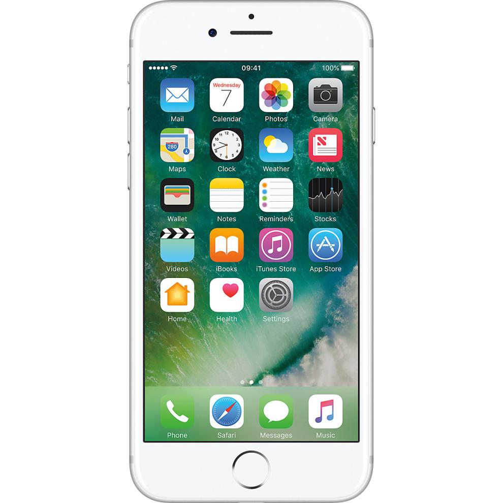 Orange, 128GB Apple iPhone 7 - Silver
