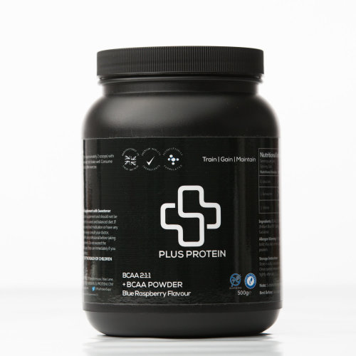 Plus Protein +BCAA Powder 500g - Blue Raspberry | Amino Acid Powder