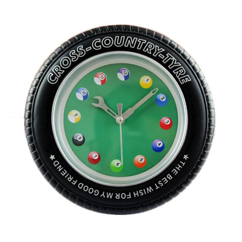 Creative Snooker Tire Shape Wall Clock Fashion Look Home Decoration(8'')