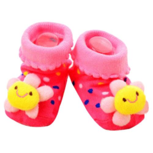 3 Pairs Non-slip Newborn Baby Boy Girls Toddler Socks Warm Stockings Baby Birthday Gift For 6-12 Month Baby-A10