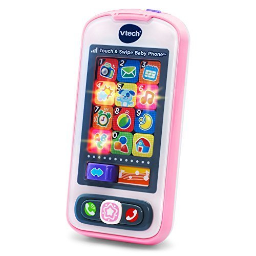 VTech Touch and Swipe Baby Phone Pink